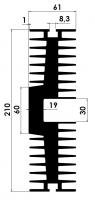 DISSIPADOR P 0,53/450MM S/F.